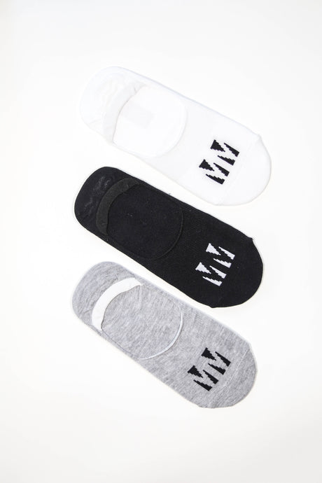 3-pack MM Invisible Socks