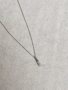Kria Silver Three Gem Necklace