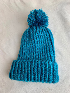 Anderst Hand Knit Reflective Hat in Turquoise