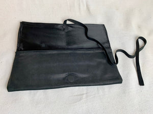 Leather Clutch in Black