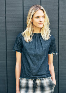 Anderst Emma raglan top in denim