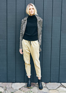 Edda Drawstring Pants in Mustard Denim
