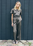 Anderst Ava Wide Leg Pants in shaved velvet