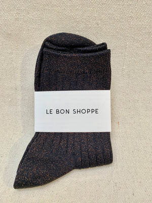 Le Bon Shoppe Lurex Socks in copper