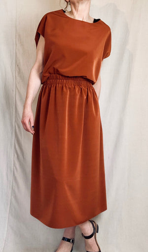Anderst Louisa Top in Burnt Orange