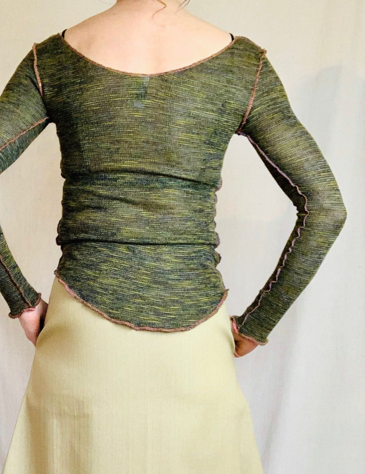 Anderst Lina Knit Top in Moss
