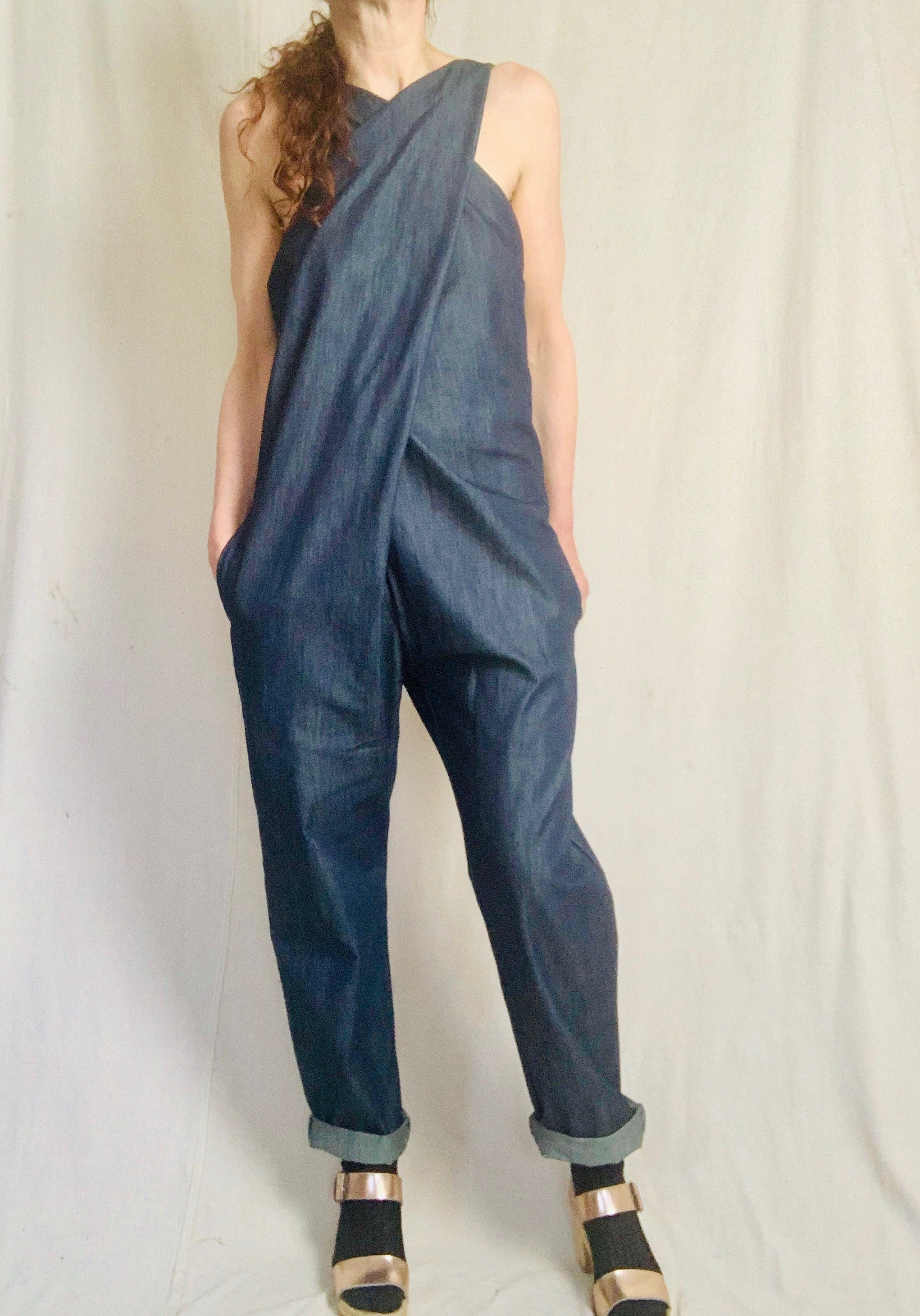 Anderst Goia Crossfront Jumpsuit in denim