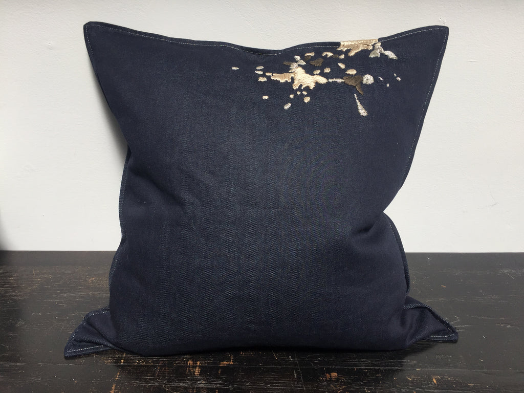 Denim Splash Pillow