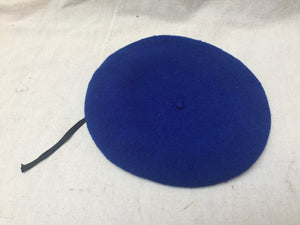 Vintage electric Blue Beret