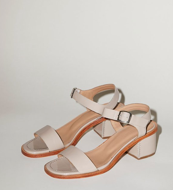 No.6 Palermo Sandal in Oyster Patent