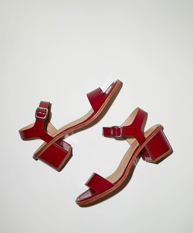 No.6 Palermo Sandal in Raspberry Patent