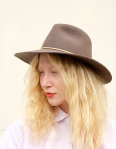 Brookes Boswell Wakefield Fedora in Mink Velour