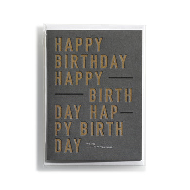 Greeting card DIN Happy Birthday Gold