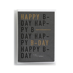 Greeting card DIN Happy Birthday
