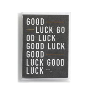 Greeting card DIN Good Luck