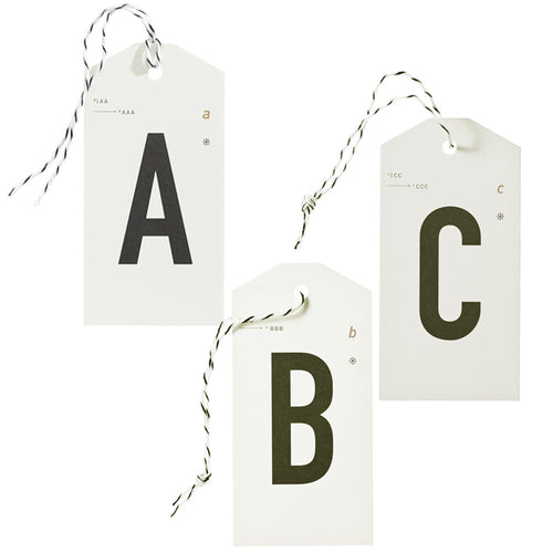 Hangtag-Set Alphabet