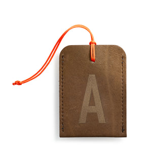 luggage tag DIN brown A