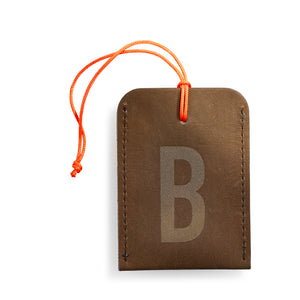 luggage tag DIN brown B