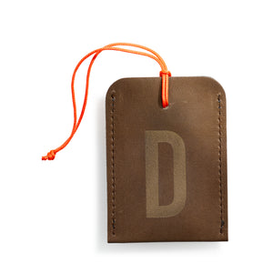 luggage tag DIN brown D