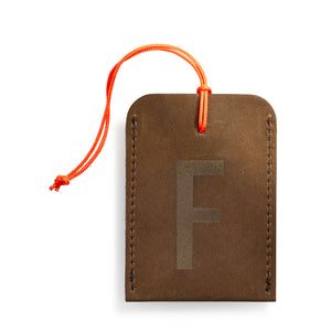 luggage tag DIN brown F