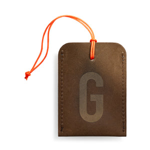 luggage tag DIN brown G