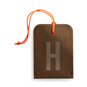 luggage tag DIN brown H