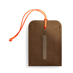 luggage tag DIN brown I