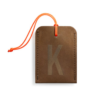 luggage tag DIN brown K