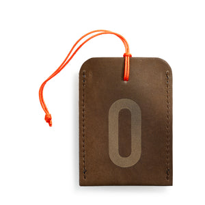 luggage tag DIN brown O
