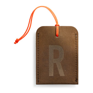 luggage tag DIN brown R