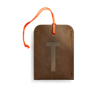 luggage tag DIN brown T