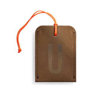 luggage tag DIN brown U