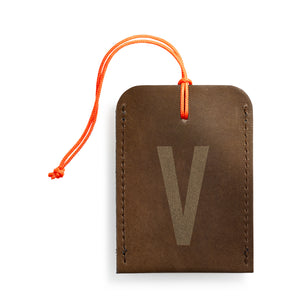 luggage tag DIN brown V