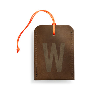 luggage tag DIN brown W