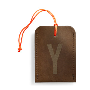 luggage tag DIN brown Y