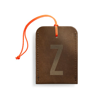 luggage tag DIN brown Z