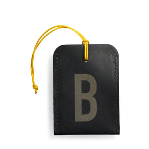 luggage tag DIN black B