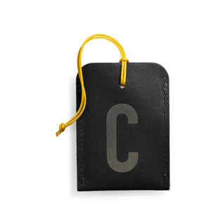 luggage tag DIN black C