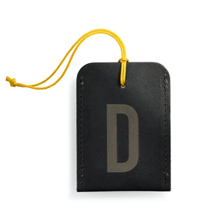 luggage tag DIN black D