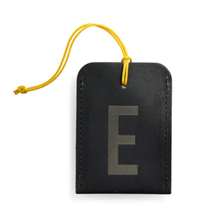 luggage tag DIN black E