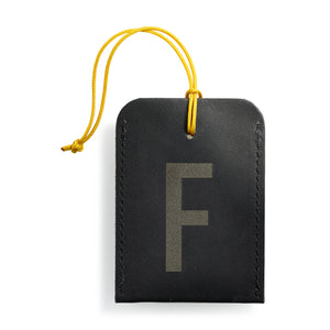 luggage tag DIN black F