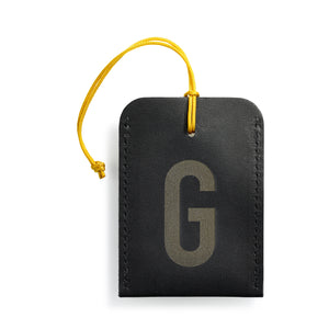 luggage tag DIN black G