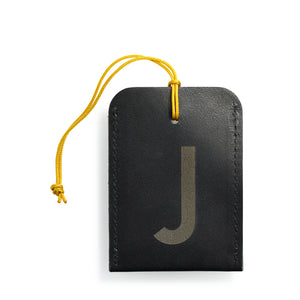 luggage tag DIN black J