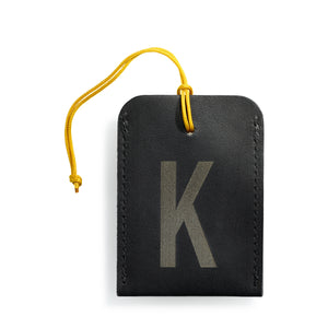 luggage tag DIN black K
