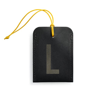 luggage tag DIN black L
