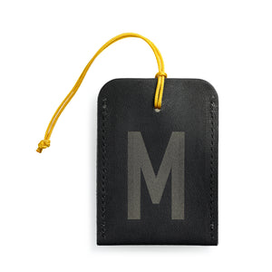 luggage tag DIN black M