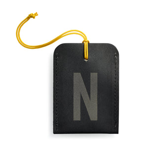 luggage tag DIN black N