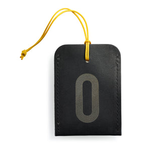 luggage tag DIN black O