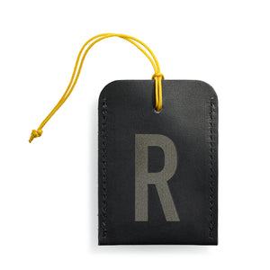 luggage tag DIN black R