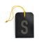 luggage tag DIN black S